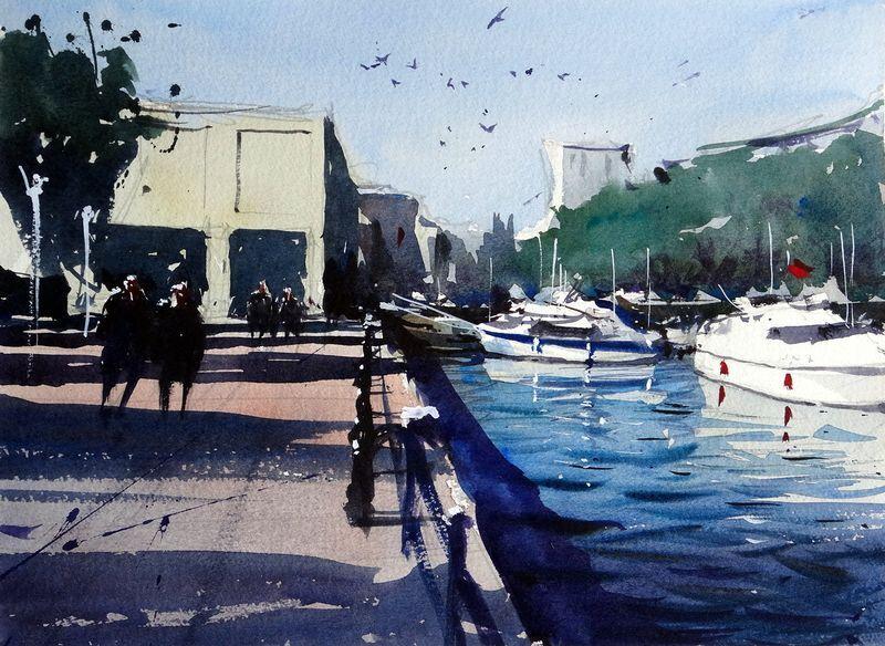 Bristol waterfront by Tim Wilmot