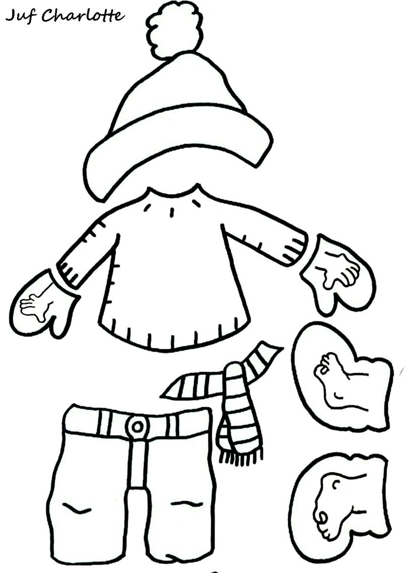 Kleren Winter Winterknutsels Thema Winterkledij