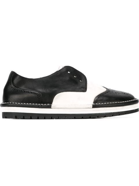 Marsall Laceless Brogues - Noir Ineab