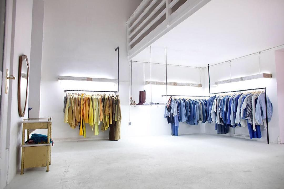 some rails - some clothes-> #burggasse24 #interiordesign ...