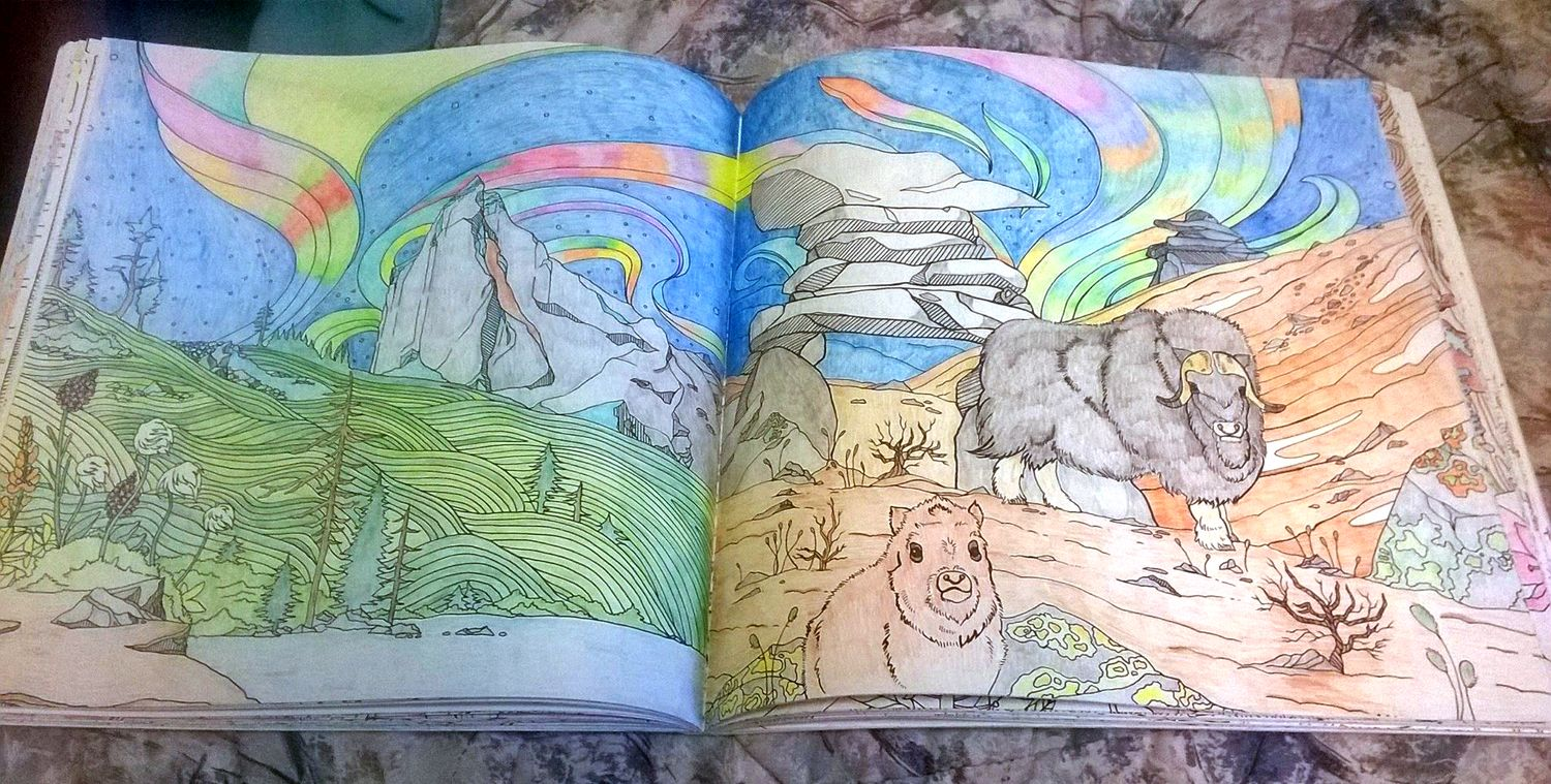 Coloured By Robert C Stacey From Legendary Landscapes Adult Coloring Book