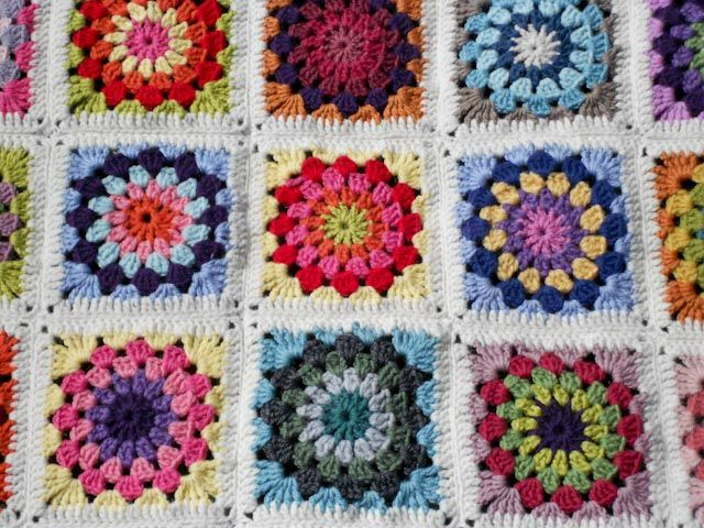 Granny Circle Blanket With Pattern Crafternoon Pinterest