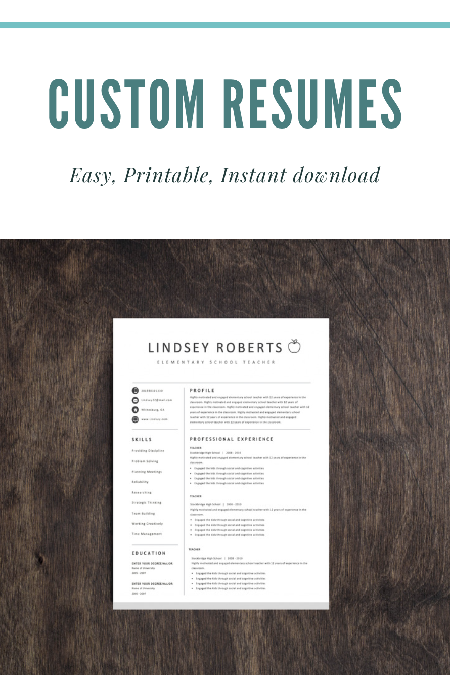 Resume Template Teacher Resume Resumes Teaching