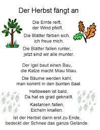 Výsledek Obrázku Pro Gedicht Igel Gedicht Herbst