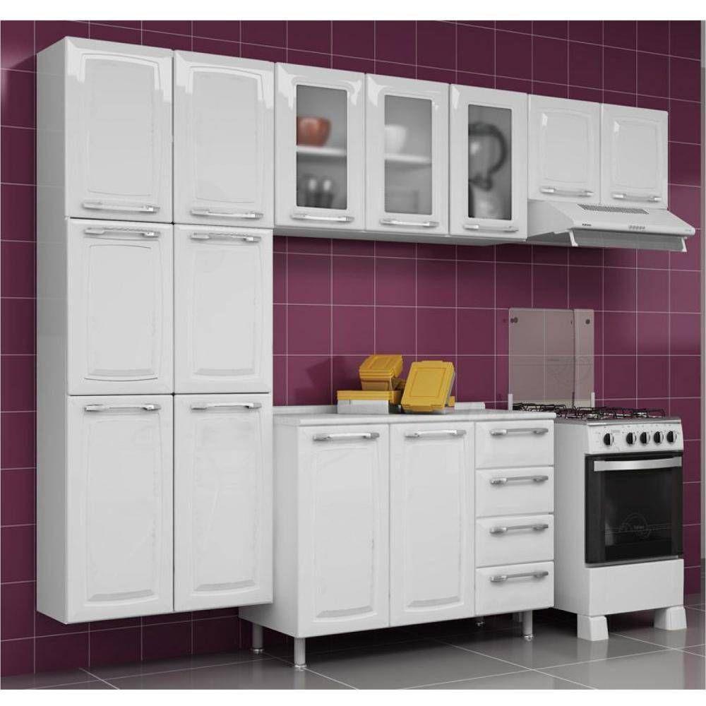 Cozinha Itatiaia Criativa Compacta 4 Pecas Branco Paneleiro Armario