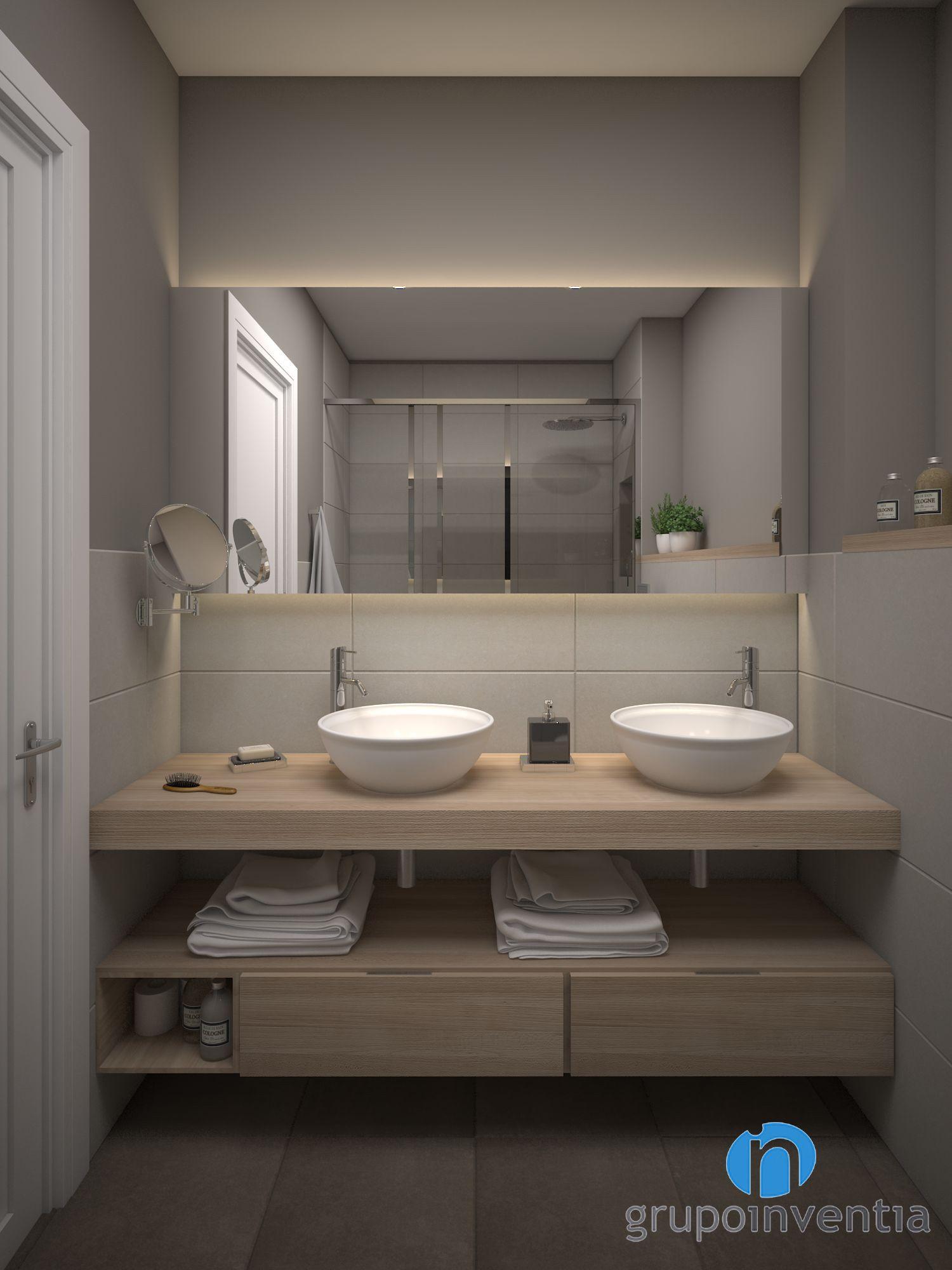 el bao contar con dos lavabos de diseo ovalado sobre un mueble de madera - Lavabos De Diseo