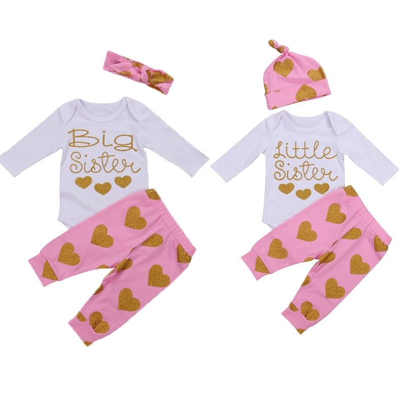 5ee0211a1 Autumn Winter Kid Girls Clothing Set Matching Clothes Big Sister T ...