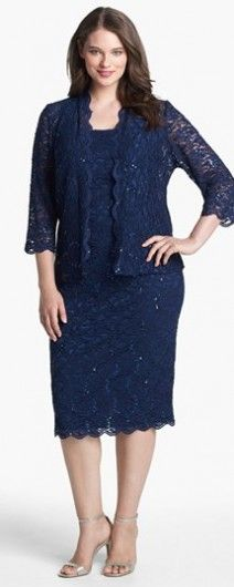 One of the most popular plus size mother of the bride outfits in Navy. Super Flattering to your curves.