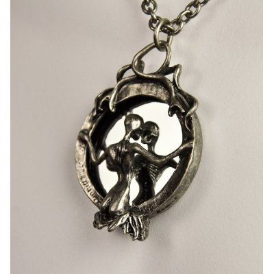 Lady Death in the Mirror Gothic Necklace