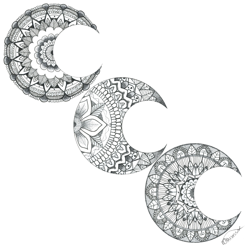 Moon Mandalas #moon #mandala #tattoo #idea #tattoo #