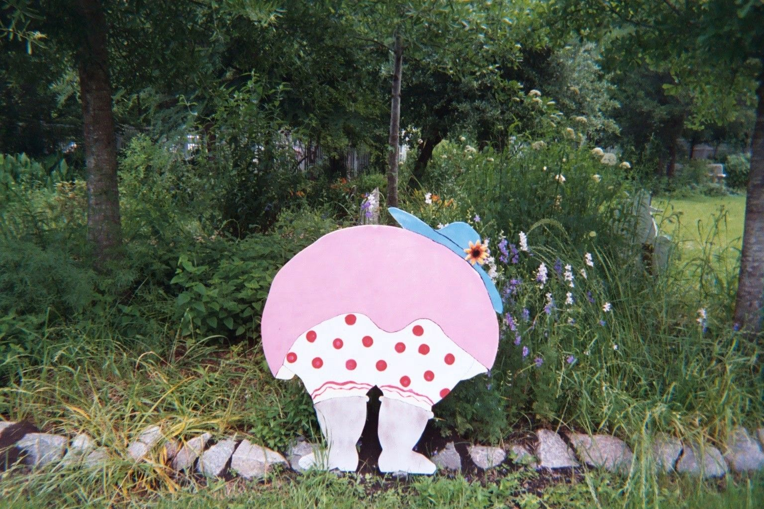 Lady Bloomers Painted Plywood Wood Yard Art Yard Art Garden