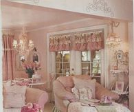 Country Pink Living Room
