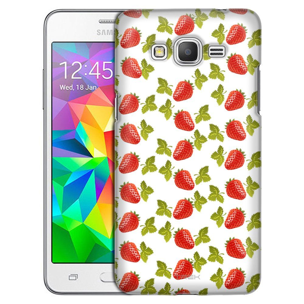 Samsung Grand Prime Strawberries and Leaves Pattern Case