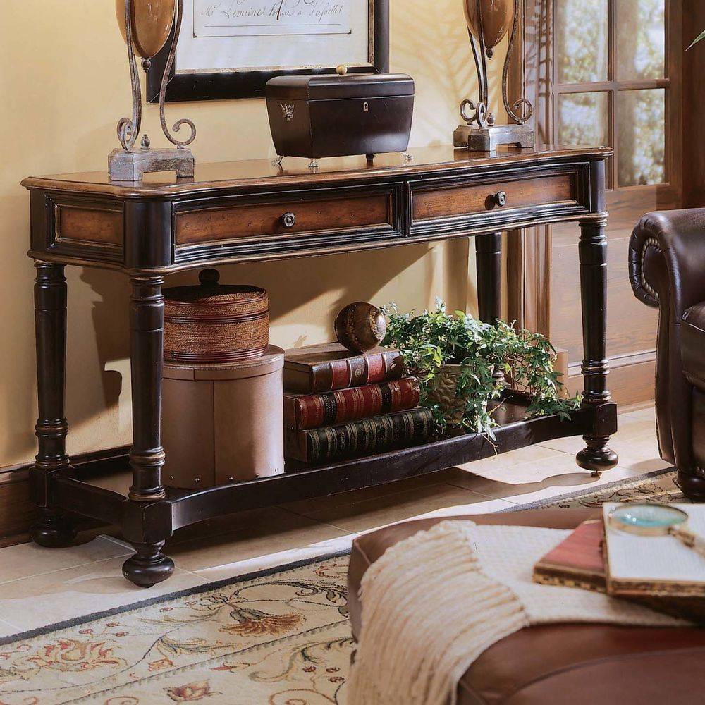 Traditional distressed cherry finish entry hallway accent sofa traditional distressed cherry finish entry hallway accent sofa console table traditional geotapseo Gallery