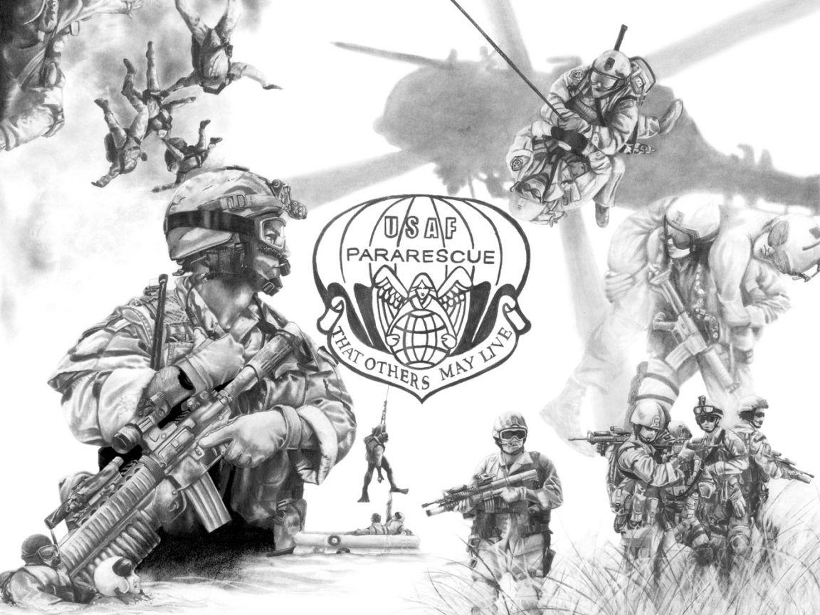 USAF Pararescue Military Usaf pararescue, Air force