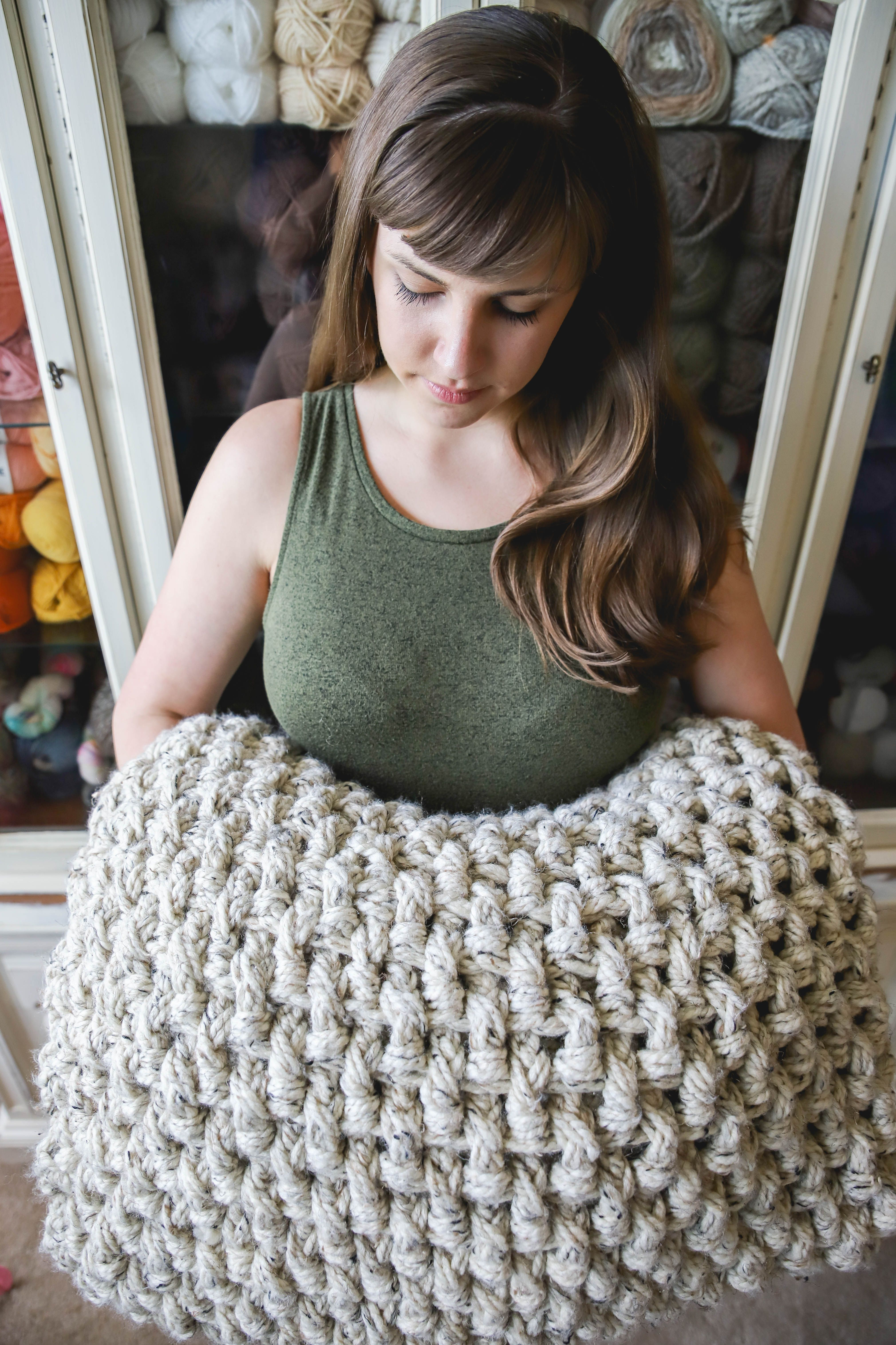 Crochet Mini Basketweave Blanket | Manta