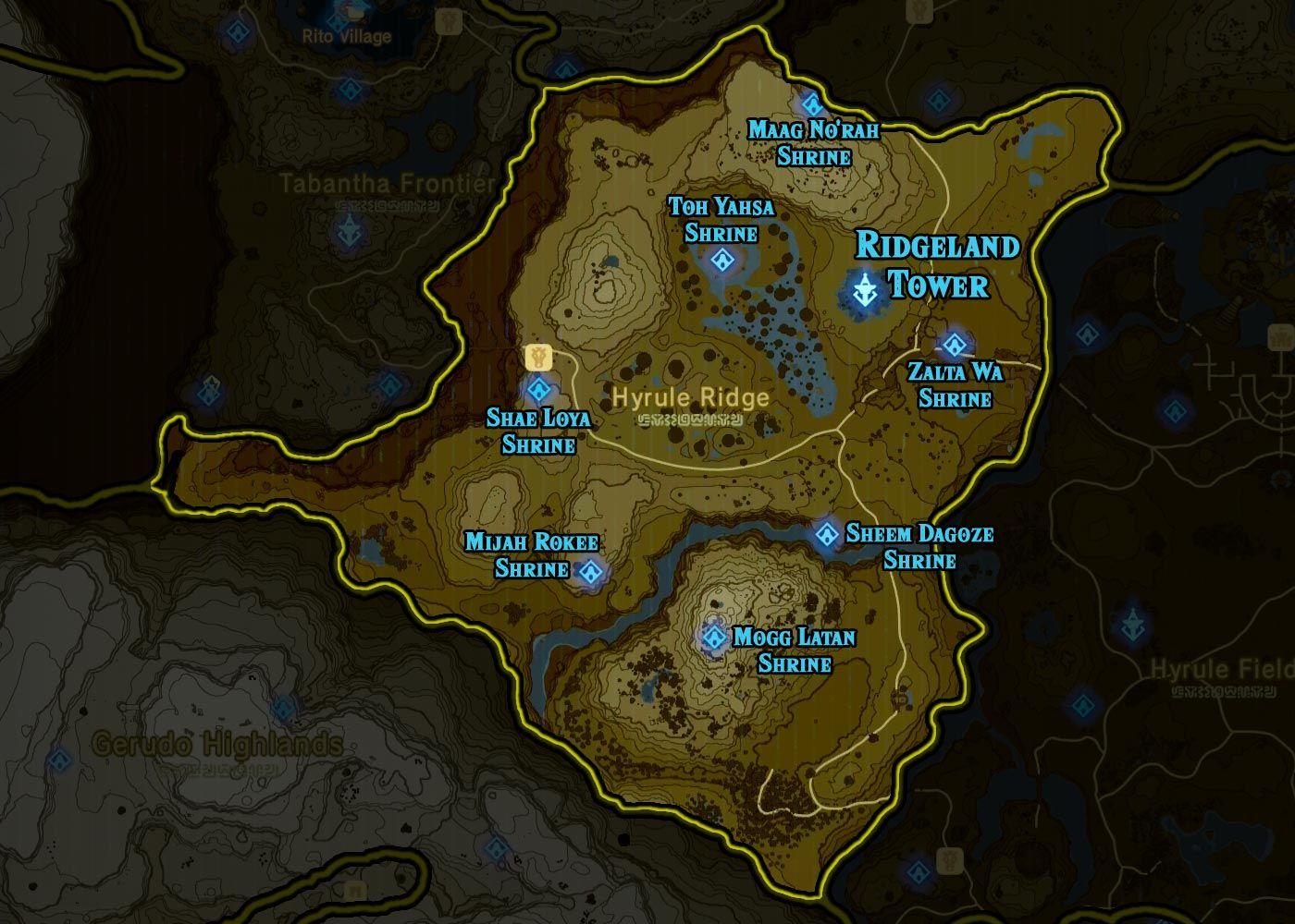 Zelda: Breath Of The Wild Shrine Maps And Locations    Polygonclockmenumore Arrownoyespoly Lt
