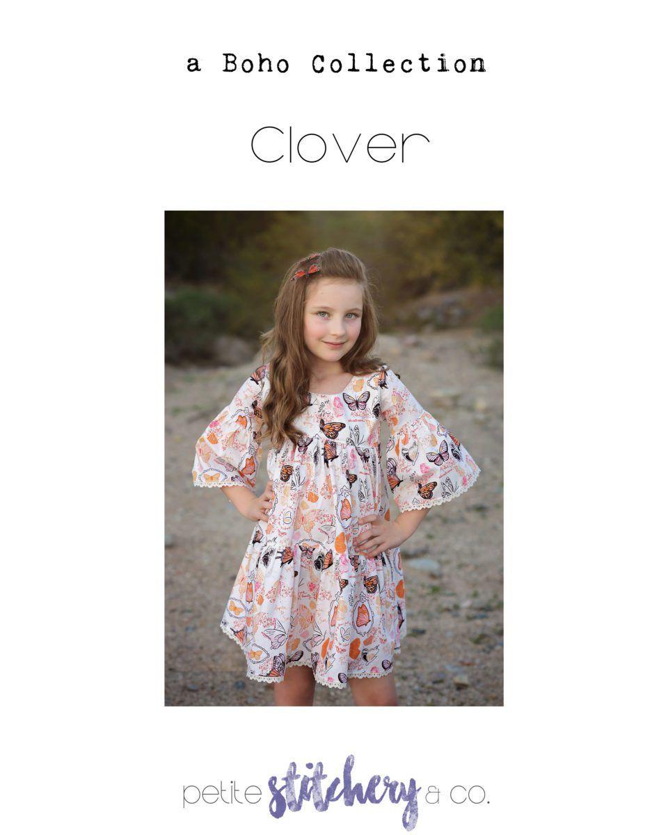 petite stitchery clover girls dress sewing pattern sale | Sewing ...