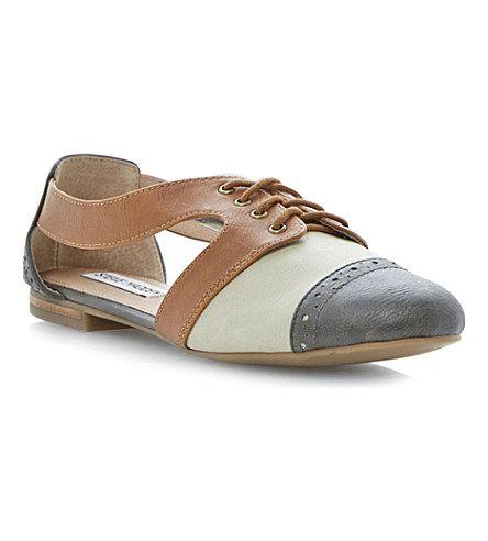 0d18909928d0 STEVE MADDEN Cori cut-out Oxford shoes (Grey-plain synthetic