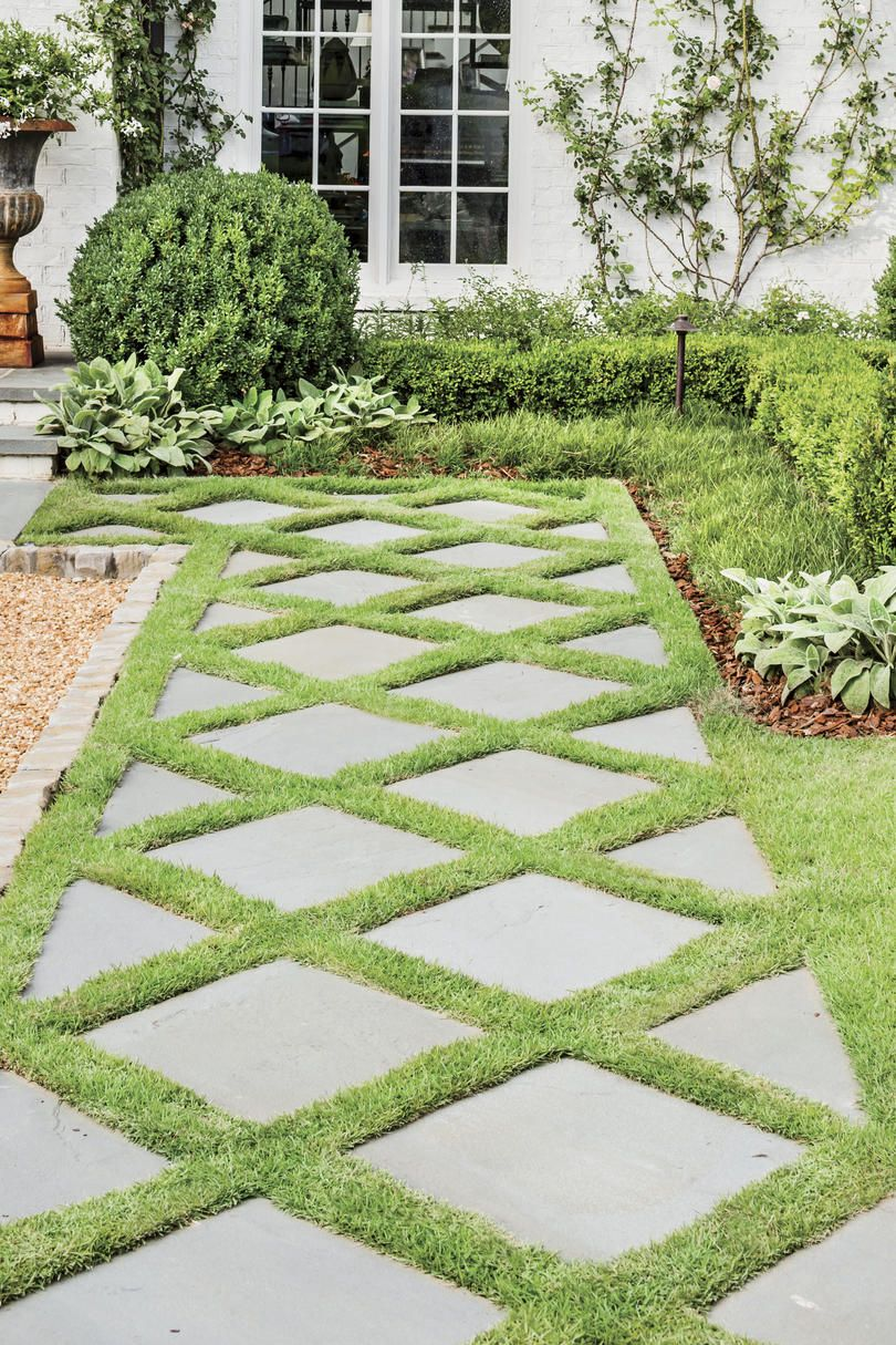 How Landscaping Added Instant Charm To This New Birmingham Home Backyard Landscaping Front Yard Landscaping Stone Garden Paths