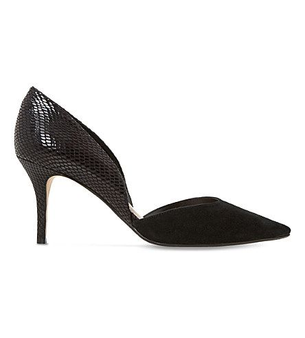 DUNE Cindey Suede D'Orsay Court Shoes. #dune #shoes #heels