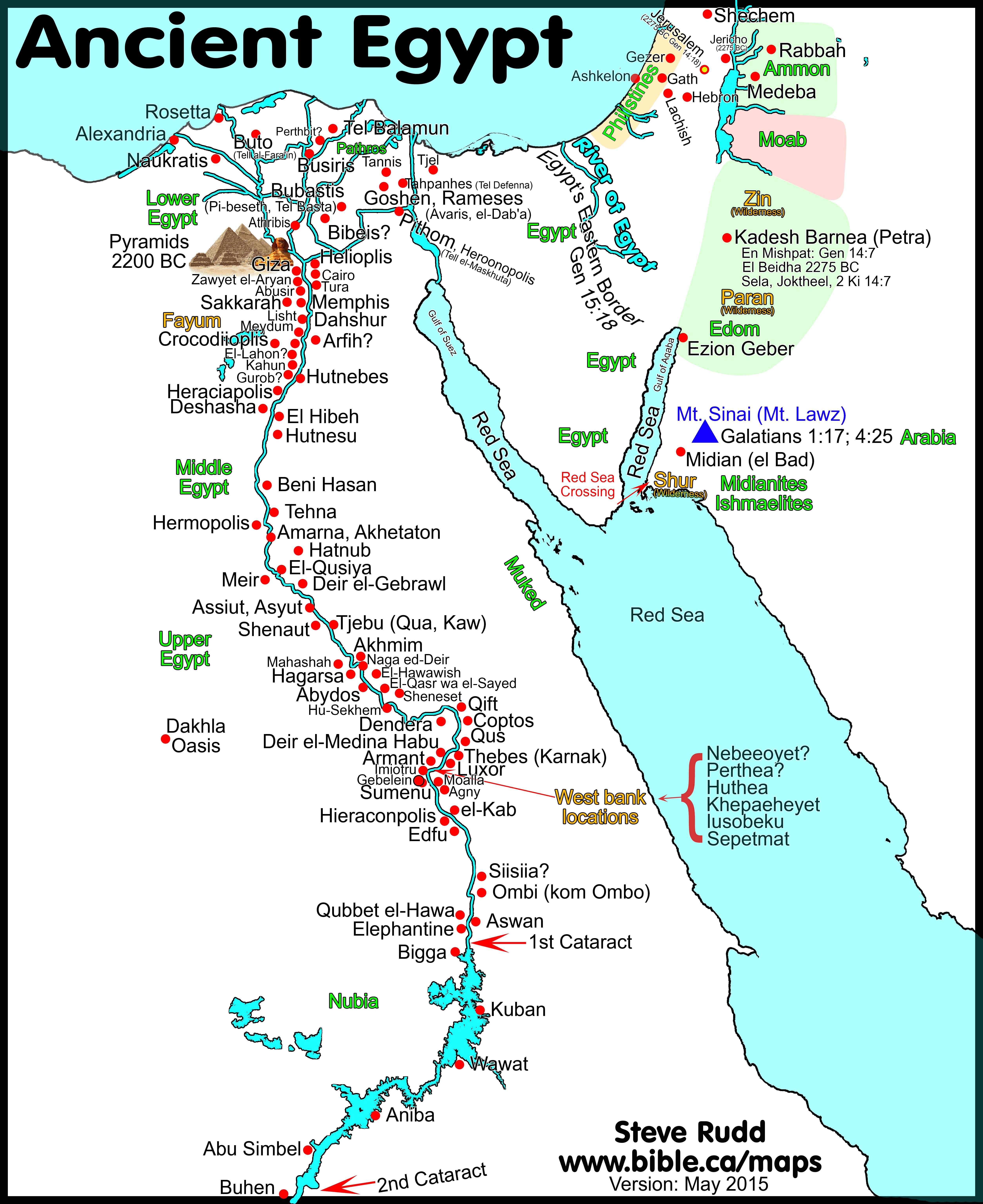 Map Of Egypt And Israel Pin by william wilson on African American history | Bible mapping