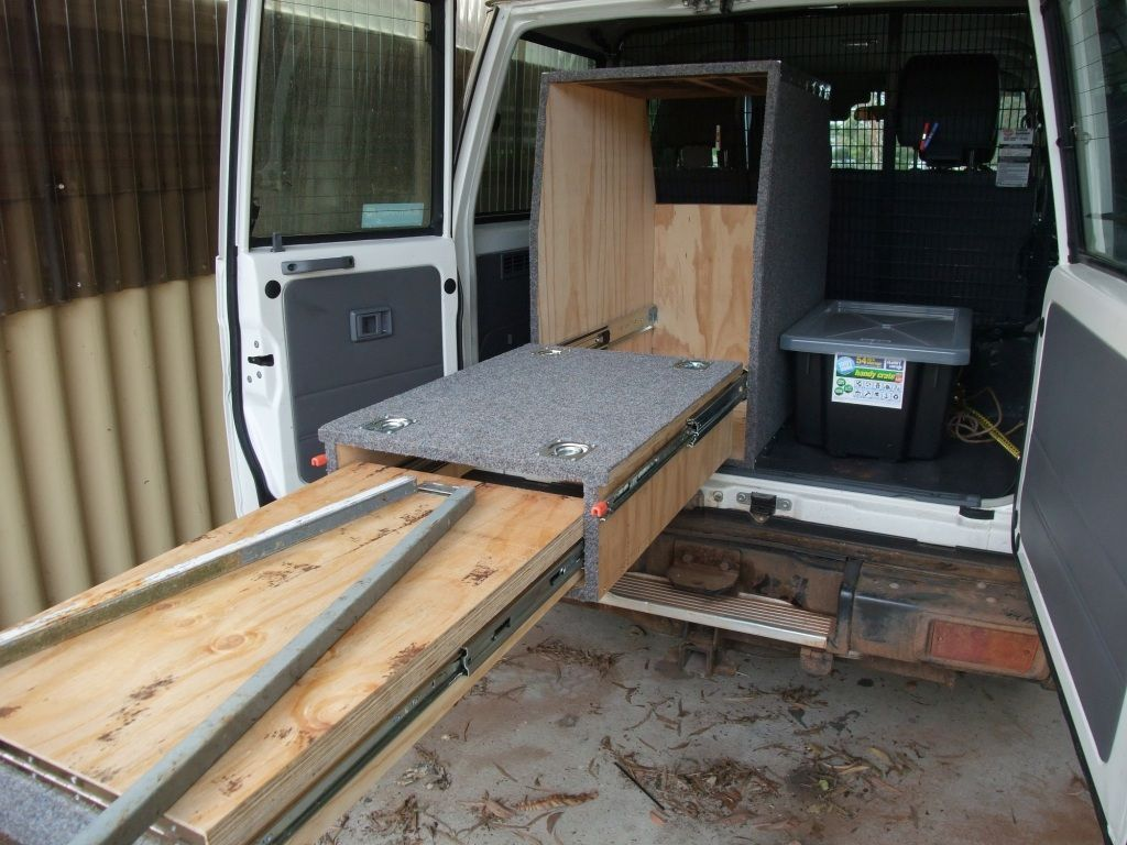 View Topic Fridge Slide And Fold Out Table Fold Out Table 4x4 Van Diy Camping