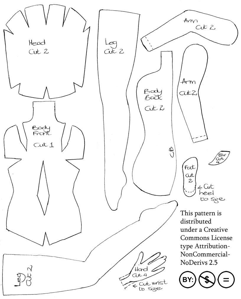 felt doll pattern   Doll patterns free, Doll clothes ...