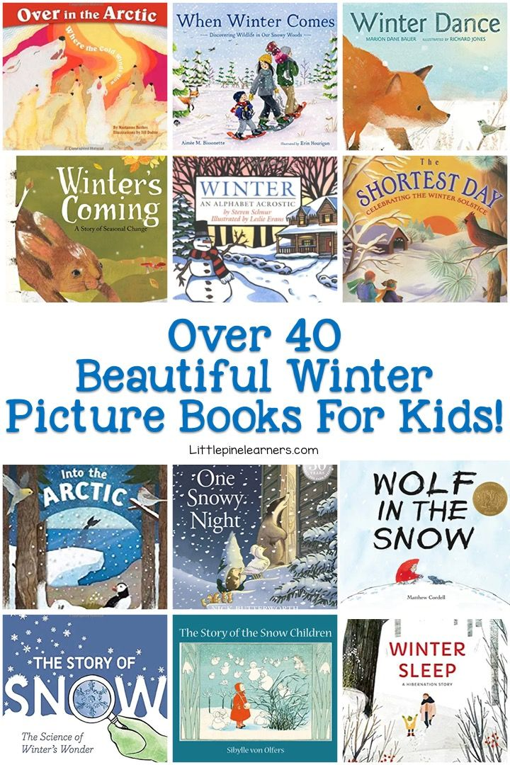 40+ Winter Picture Books for Kids • Little Pine Learners
