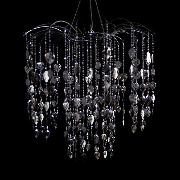 This Chandelier Is Dripping With Large Sparkly Acrylic Crystals It Is 15 5 Inches In Diameter And Waterfall Chandelier Event Decor Direct Acrylic Chandelier
