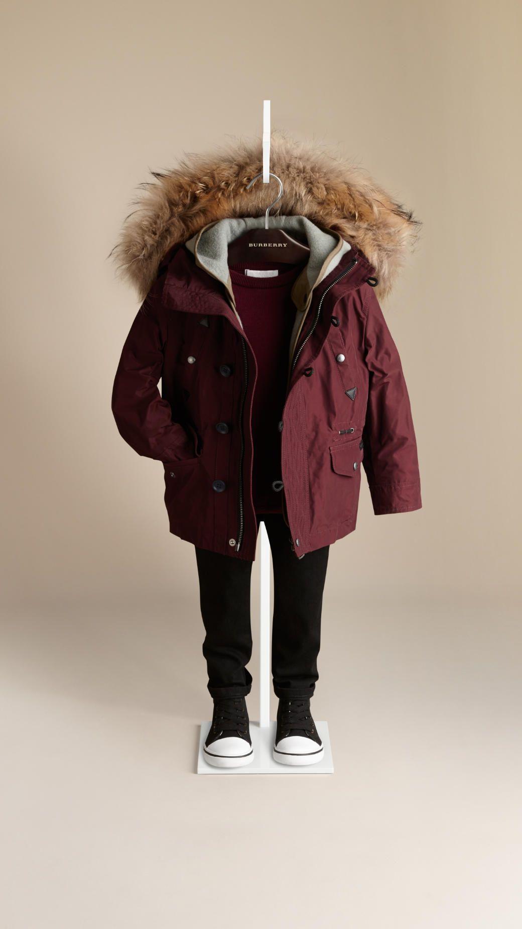 gar on burberry kids fashion veste imperm able. Black Bedroom Furniture Sets. Home Design Ideas