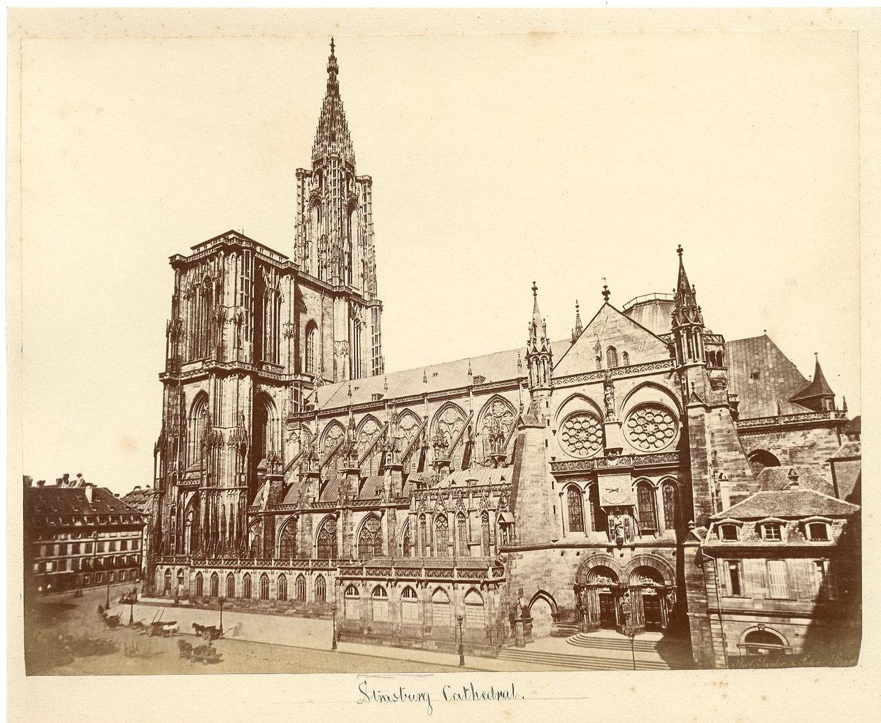 France Strasbourg Cathedrale Vintage Albumen Print Tirage Albumine 17x2 Ebay Cathedrale Strasbourg Voyage En Alsace