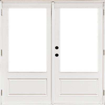 Mp Doors 72 In X 80 In Fiberglass Smooth White Right Hand Outswing Hinged 3 4 Lite Patio Door Ht6068r3q01 The Home Depot In 2020 Patio Doors French Doors Patio Fiberglass French Doors