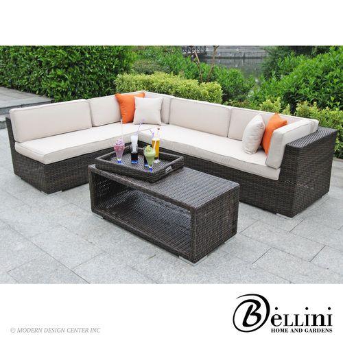 Laredo Sofa And Loveseat: Bellini Laredo 4-piece Deep Seating Sofa Set W81304