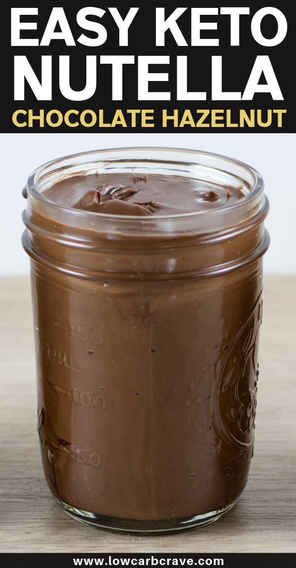 Homemade Keto Nutella (Chocolate Hazelnut Spread)