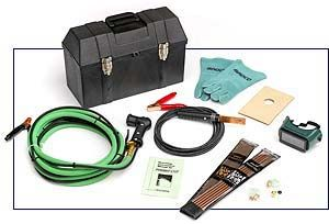 The Broco® PC/A-20 Port-A-Kut exothermic cutting system is a portable and powerful cutting tool.  This versatile kit is perfect for repairing heavy equipment at the shop and for use on maintenance trucks when and where ever needed.  It is the ideal tool for piercing siezed pins, as well as any type of exotic metal dismantling, from aluminum to stainless to cast iron and manganese.