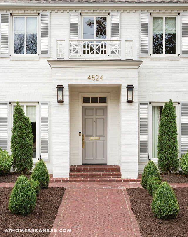 Modern Mix House Paint Exterior Exterior Brick White Exterior