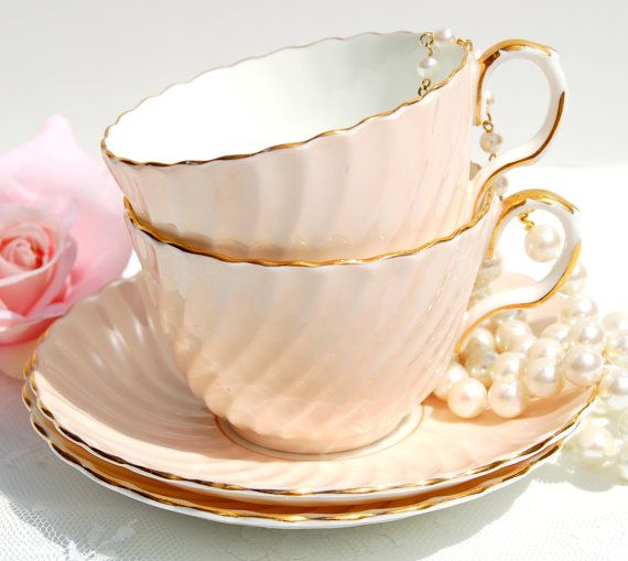Antique Aynsley Tea cup and Saucer Set of 2 Fine by EcoIdeology