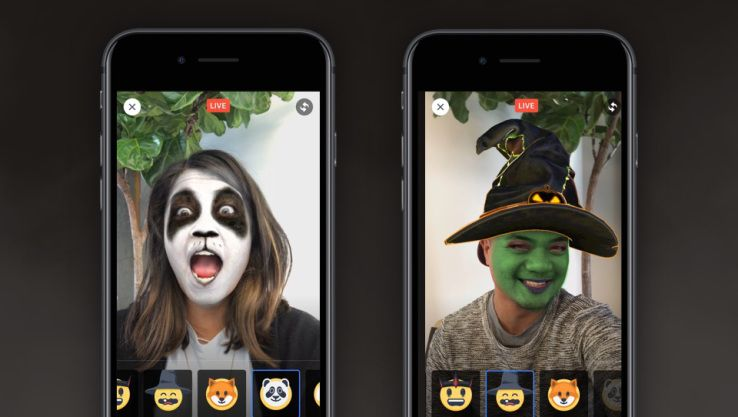 Facebook Launches Augmented Reality Selfie Masks For Live Video Dizajn Interfejsa