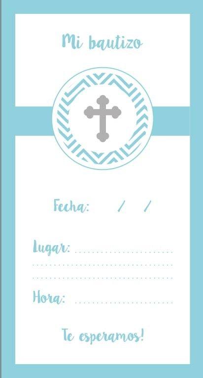 invitaciones bautizo nino