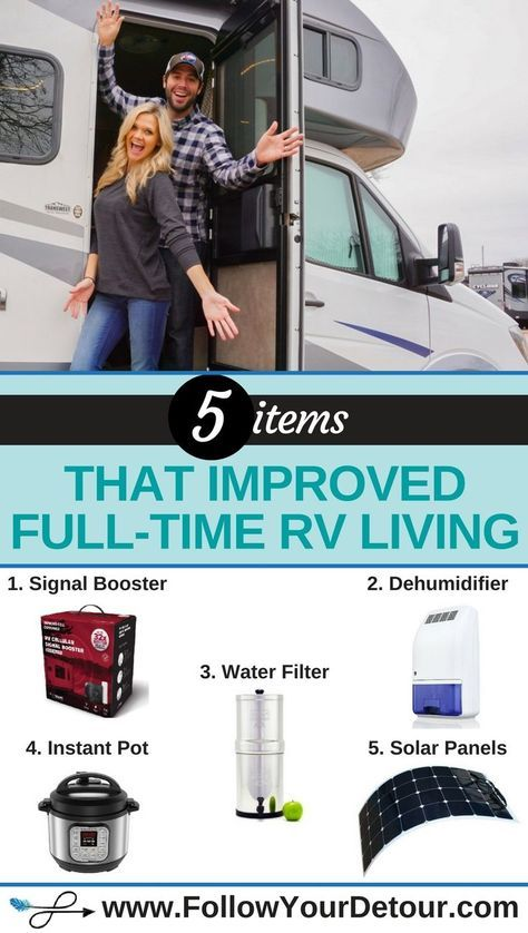 5 Items That Improved RV Life For Us! - Follow Your Detour #rvliving