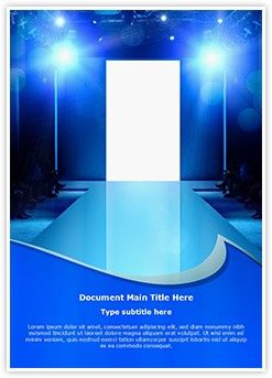 fashion show stage word document template is one of the best word, Modern powerpoint