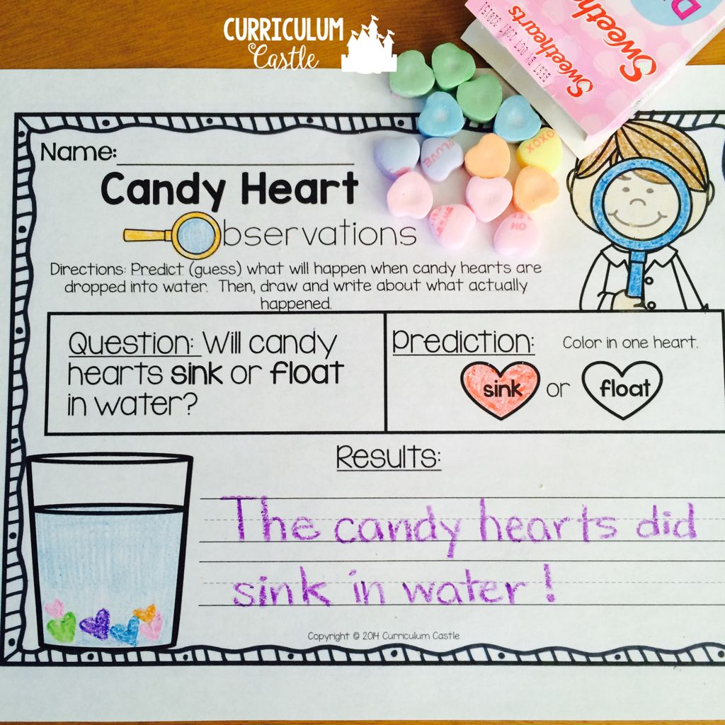 Valentine S Day Science Candy Heart Experiment Free
