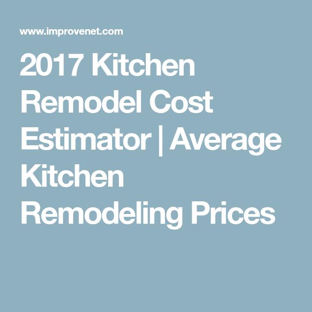 2017 Kitchen Remodel Cost Estimator  Average Kitchen Remodeling Impressive Kitchen Remodel Cost Estimator Decorating Inspiration