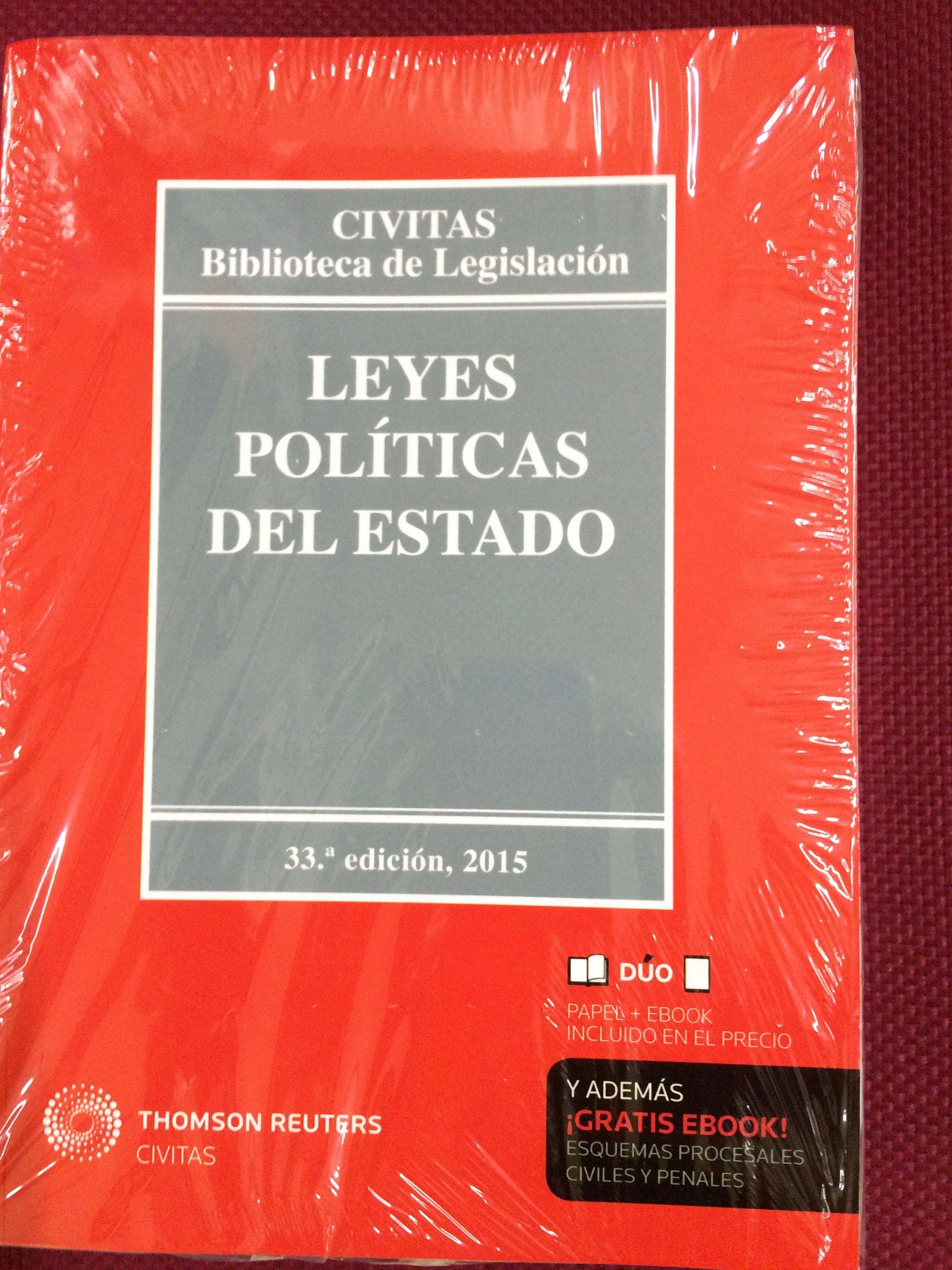 #Manuales #Universitarios #TextosLegales #Derecho Leyes Políticas del Estado 2015.