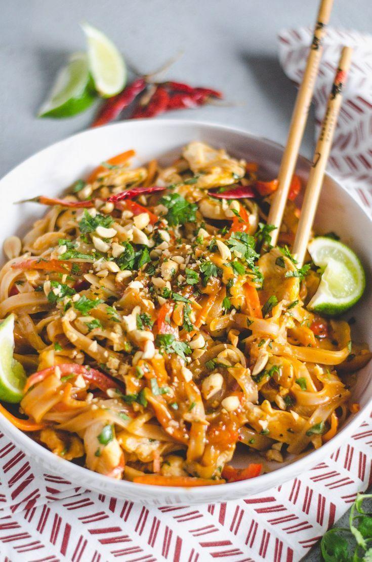 Easy spicy chicken pad thai recipe asian recipes