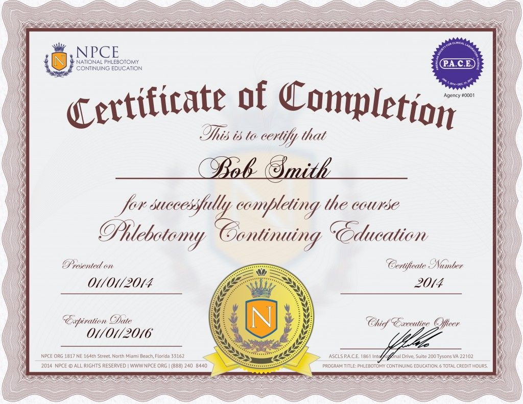 Sample ceu certificate phlebotomy credits pinterest phlebotomy phlebotomy sample ceu certificate 1betcityfo Choice Image