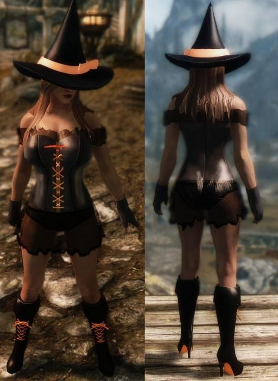Witch Armor - Skimpy - Sexy - Skyrim - UNP Download - Mod
