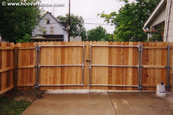 6 ft gate plans | Click to Enlarge! Wood Fence Styles by Hoover ...