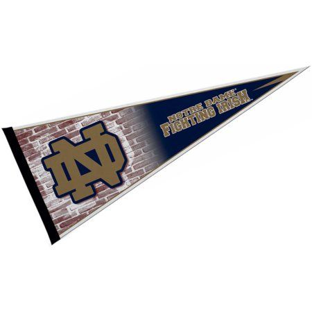 Notre Dame Fighting Irish 12 inch X 30 inch Felt College Pennant, Green